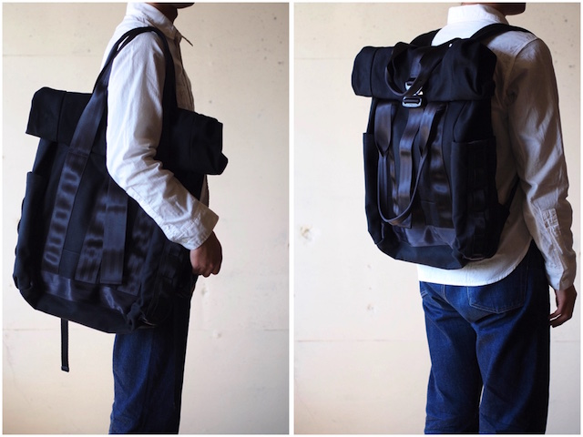 DEFY BAGS Ver Bockel Rolltop Pack Wax Canvas Black-3