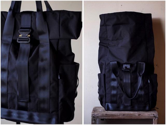 DEFY BAGS VerBockel Rolltop Pack, Black Cordura-4