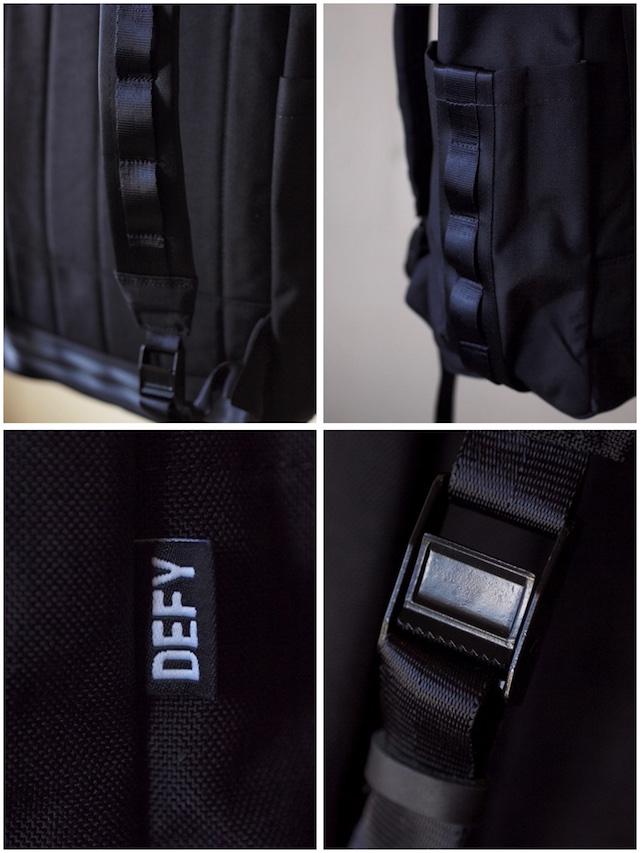 DEFY BAGS VerBockel Rolltop Pack, Black Cordura-6