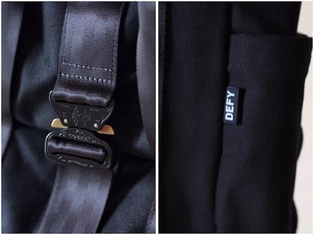 DEFY BAGS, VerBockel Rolltop Pack Wax Canvas Black-8