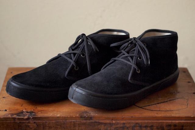 FERN Sneaker Chukka Model Suede, Nero-1