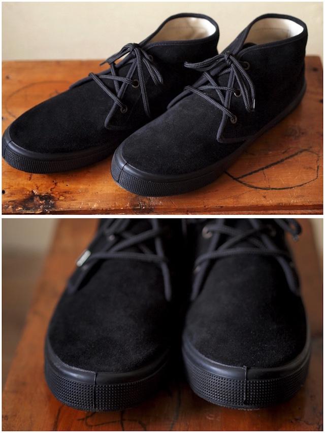 FERN Sneaker Chukka Model Suede, Nero-2
