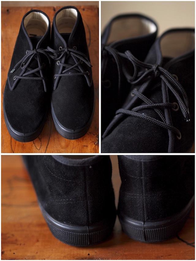 FERN Sneaker Chukka Model Suede, Nero-3