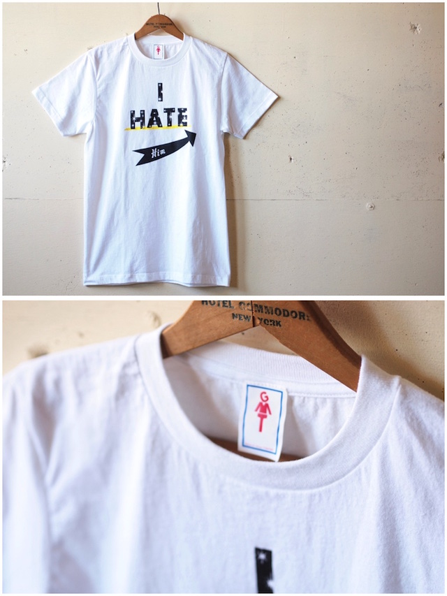 GMT Printed Tee I Hate Him White-2