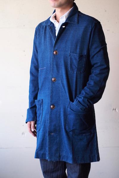 Gypsy&Sons Indigo P-Knit Atelier Coat-3