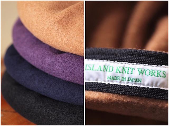 [ISLAND KNIT WORKS] De La, Wool Beret/IKW-A-24-7