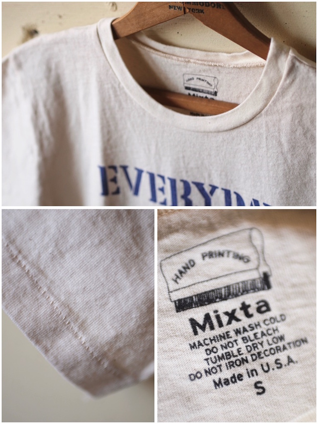 Mixta (ミクスタ) Printed Tee No Work Natural-3