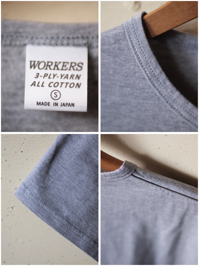 WORKERS 3-PLY Tee Grey-3
