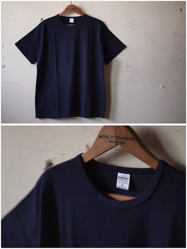 WORKERS 3-PLY Tee Navy-2