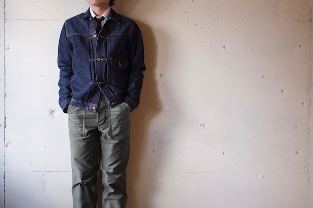 WORKERS Cowboy JKT 13.75oz Left Hand Weave Raw Denim-2