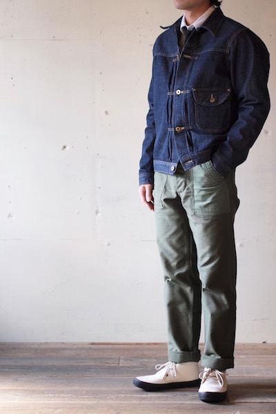WORKERS Cowboy JKT 13.75oz Left Hand Weave Raw Denim-3