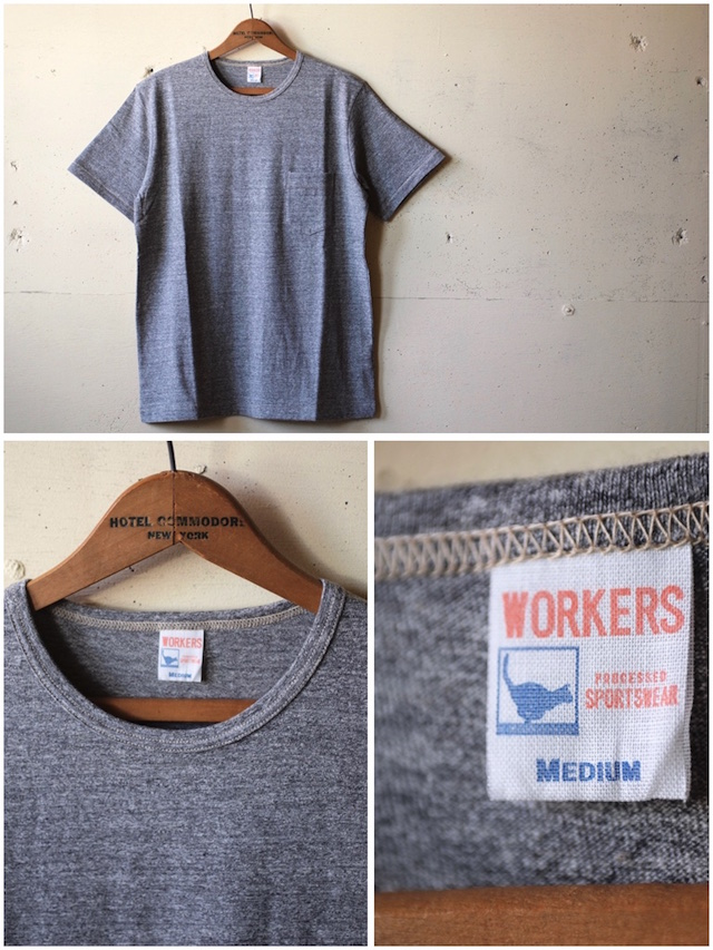 WORKERS Crew Neck Pocket Tee Grey-2