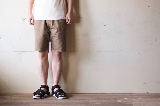 WORKERS EZ Shorts Cotton×Linen Karsey Beige-2