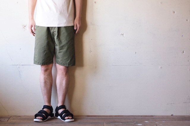 WORKERS EZ Shorts Cotton×Linen Karsey Olive-2