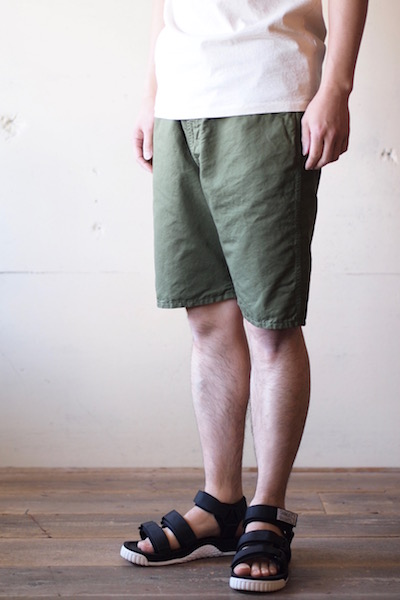 WORKERS EZ Shorts Cotton×Linen Karsey Olive-3