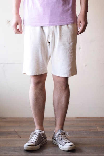 WORKERS EZ Shorts India Khadi Natural-3