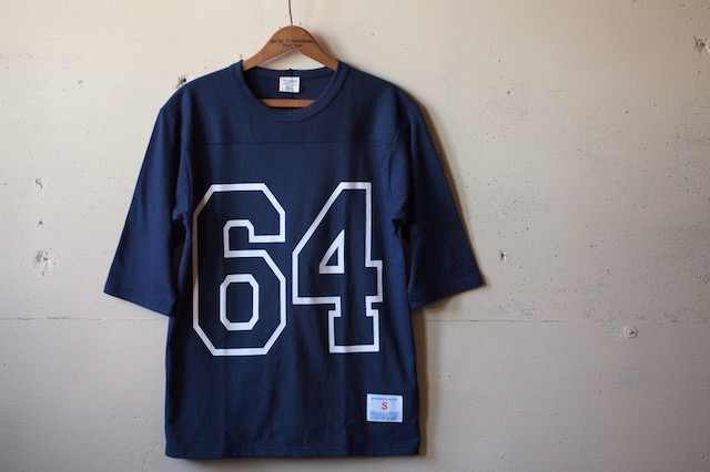 WORKERS Football Tee 64 Navy-2