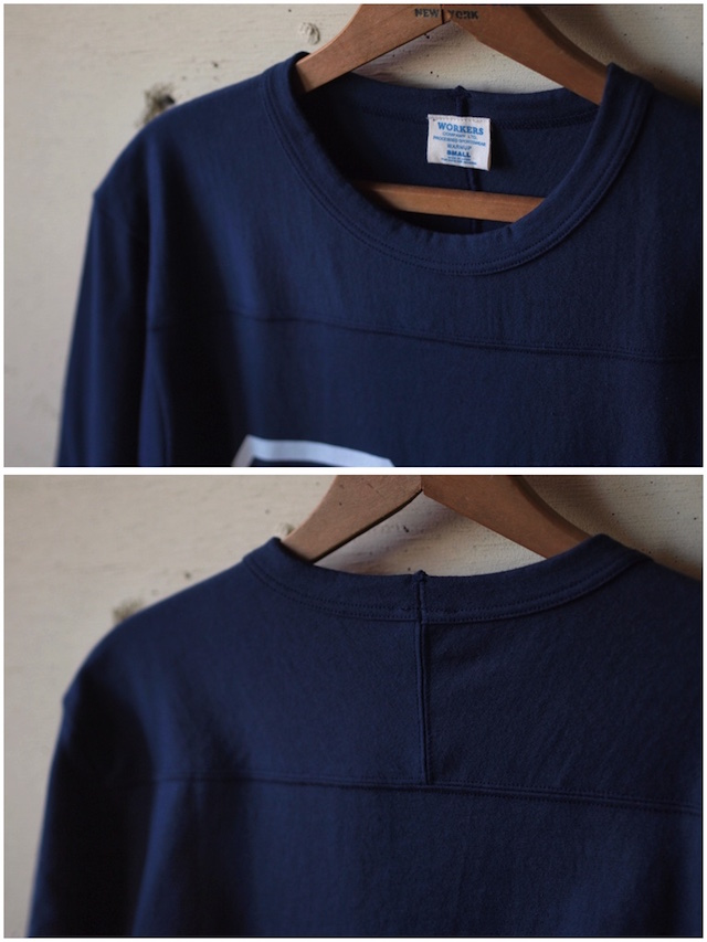 WORKERS Football Tee 64 Navy-3