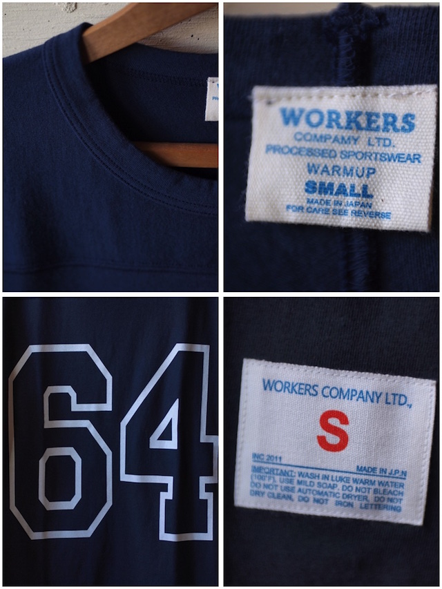 WORKERS Football Tee 64 Navy-4
