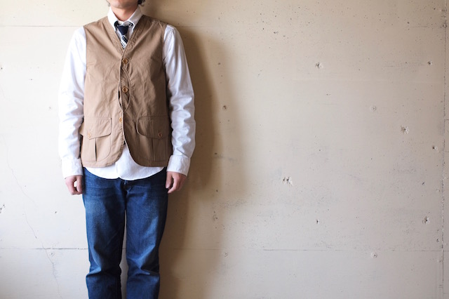 WORKERS Hunting Vest 7oz High Count Twill Beige-2