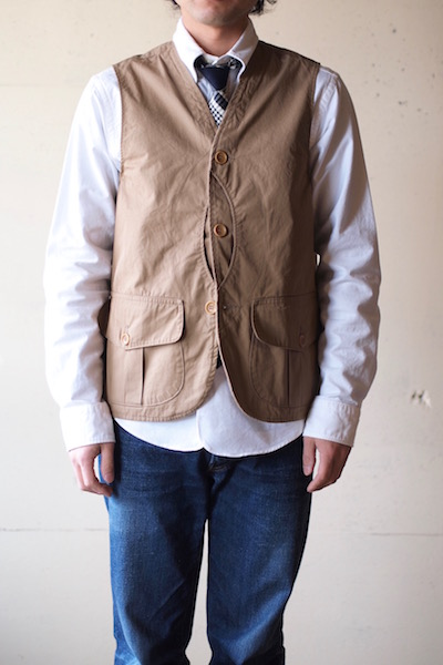 WORKERS Hunting Vest 7oz High Count Twill Beige-3