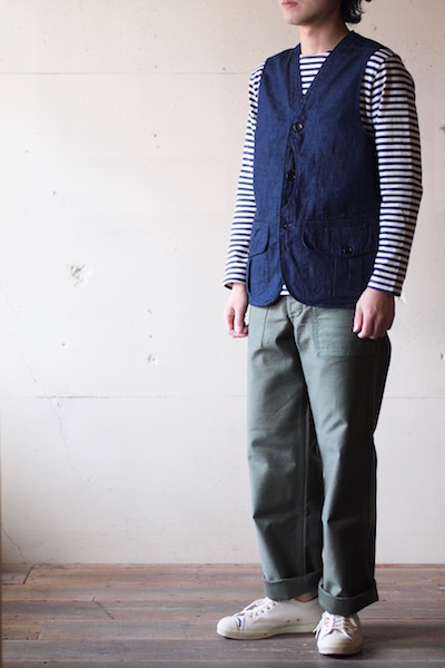 WORKERS Hunting Vest 8oz Denim-3