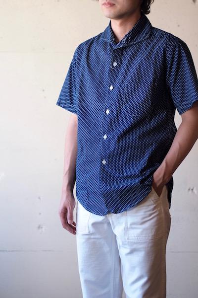 WORKERS Italian Collar Shirt Polka Dot-3