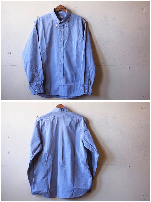 WORKERS Lt. BD Shirt GIZA Broadcloth Blue-4