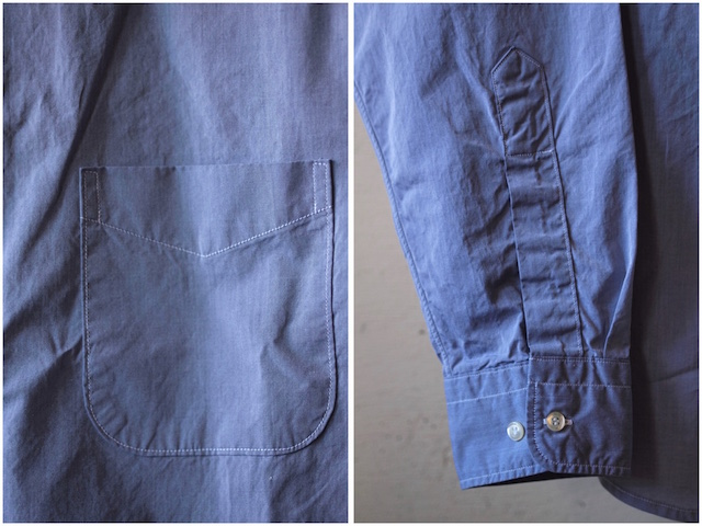 WORKERS Lt. BD Shirt GIZA Broadcloth Blue-7