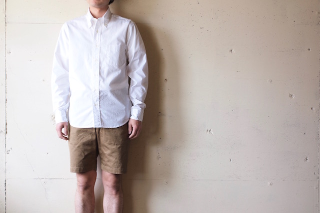 WORKERS Lt. BD Shirt GIZA Broadcloth White-2