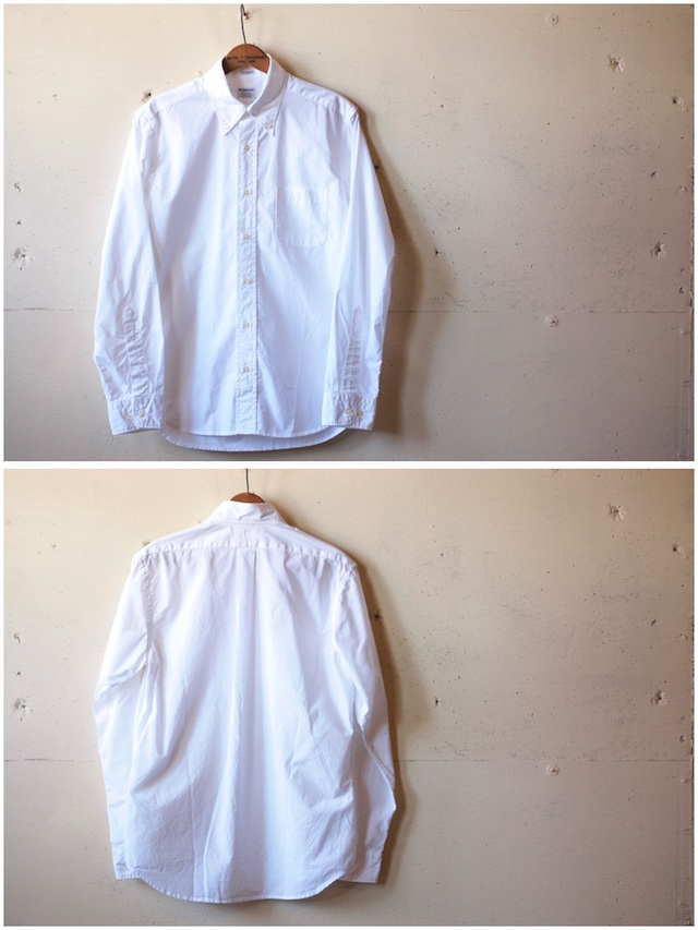 WORKERS Lt. BD Shirt GIZA Broadcloth White-4