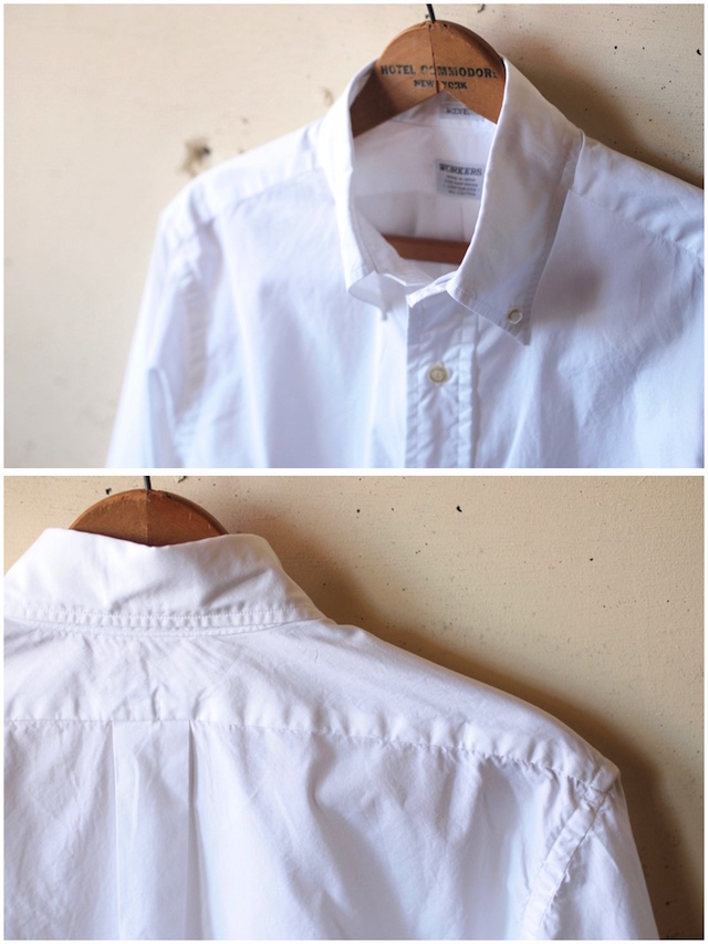 WORKERS Lt. BD Shirt GIZA Broadcloth White-5