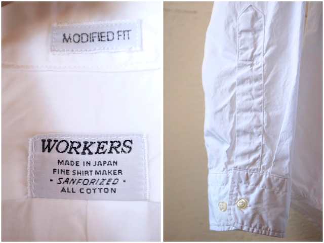 WORKERS Lt. BD Shirt GIZA Broadcloth White-6