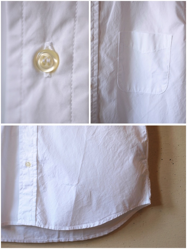 WORKERS Lt. BD Shirt GIZA Broadcloth White-7