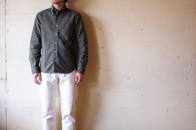 WORKERS Modified BD Shirt Garment Dye Olive-2
