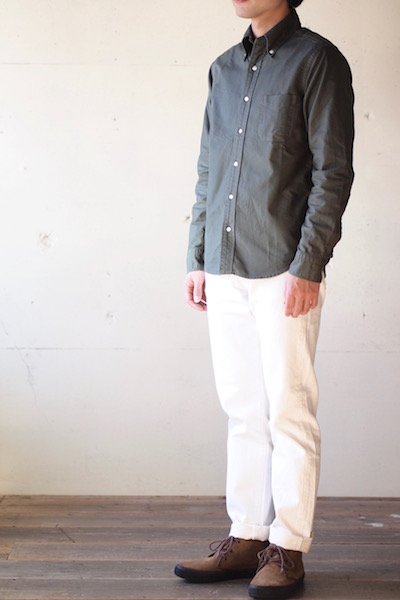 WORKERS Modified BD Shirt Garment Dye Olive-3