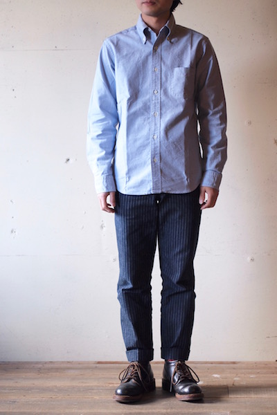 WORKERS Modified BD Shirt Supima Cotton Blue OX-3