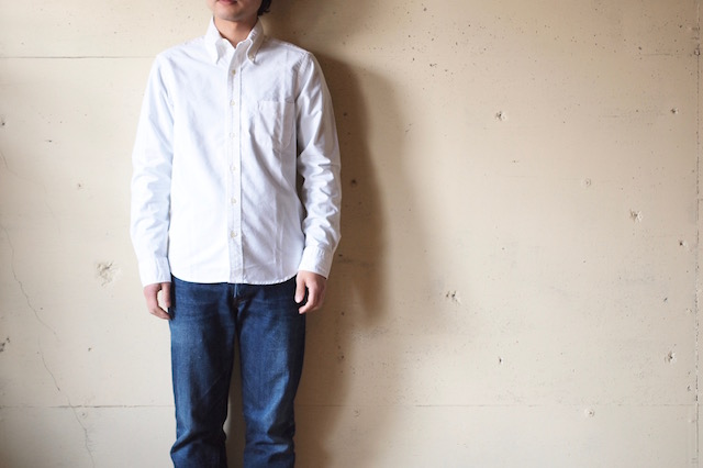 WORKERS Modified BD Shirt Supima Cotton White OX-2