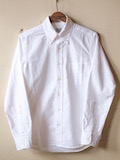 WORKERS Modified BD Shirt Supima Cotton White OX-Link