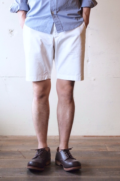 WORKERS Officer Shorts White Chino-3
