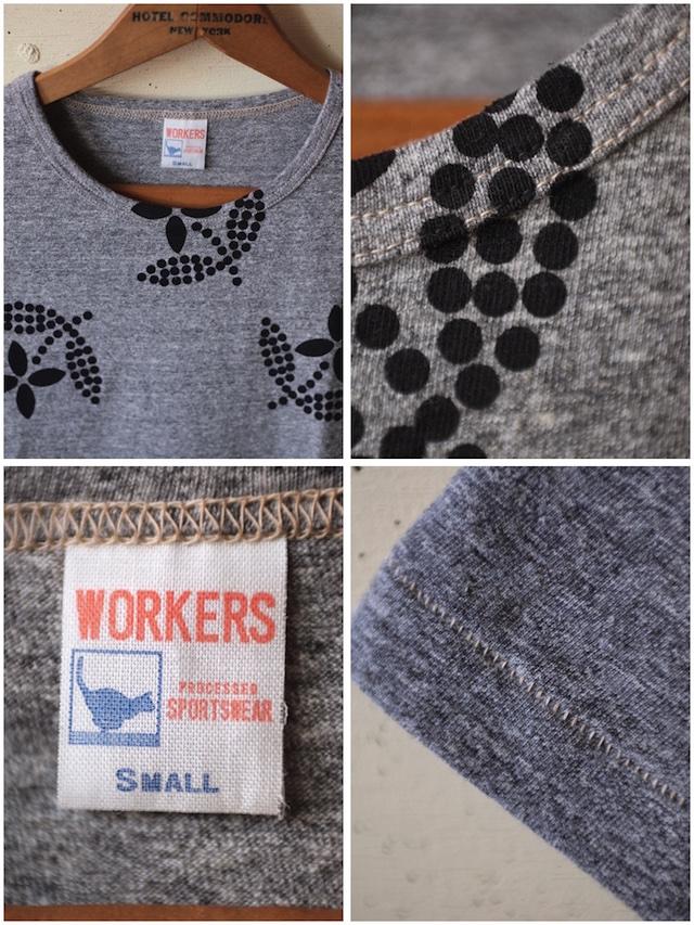 WORKERS Printed Tee Floral Grey-3