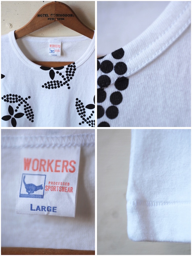 WORKERS Printed Tee Floral White-3