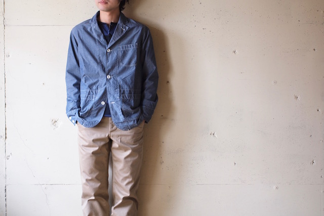 WORKERS Sack Coat Lt. Chambray Blue-2