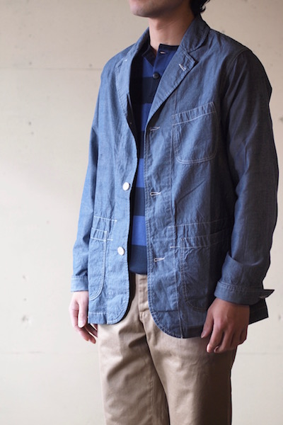 WORKERS Sack Coat Lt. Chambray Blue-3