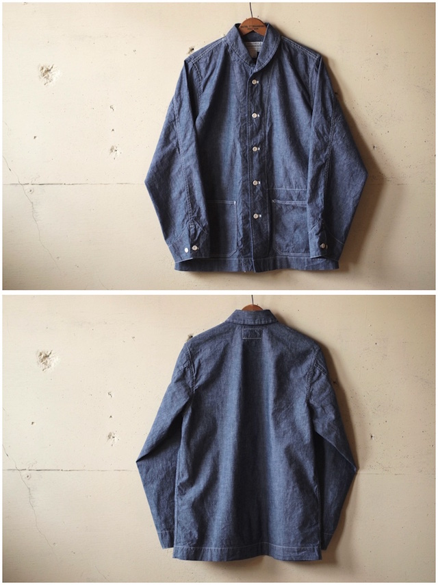 WORKERS Shawl Collar JKT 8oz Indigo Chambray Blue-4