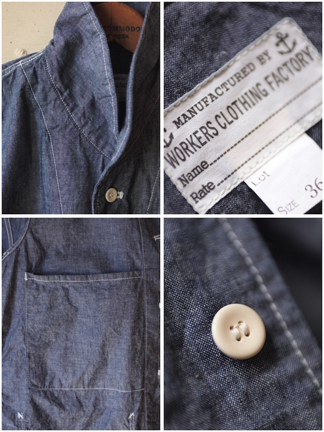 WORKERS Shawl Collar JKT 8oz Indigo Chambray Blue-7