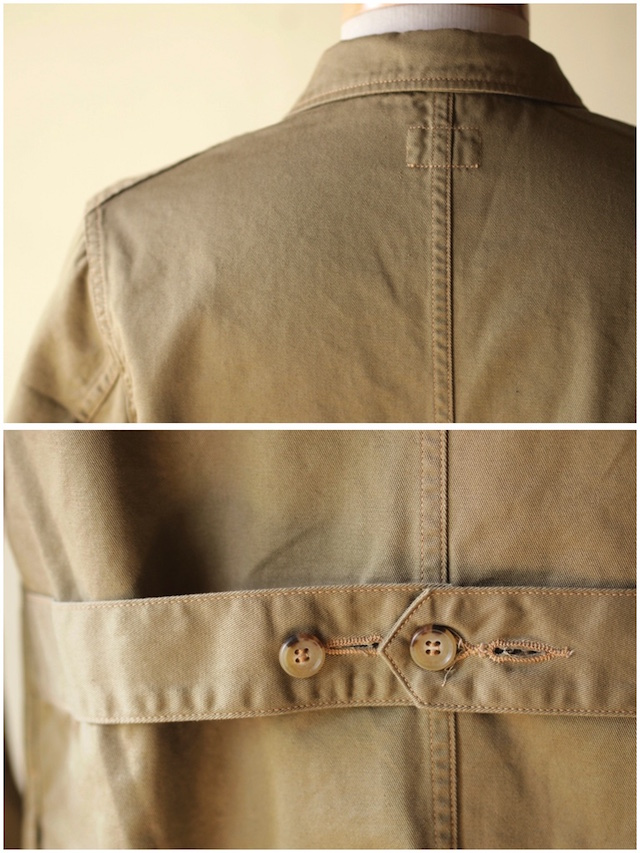 WORKERS Shop Coat 8oz Chino Beige-6