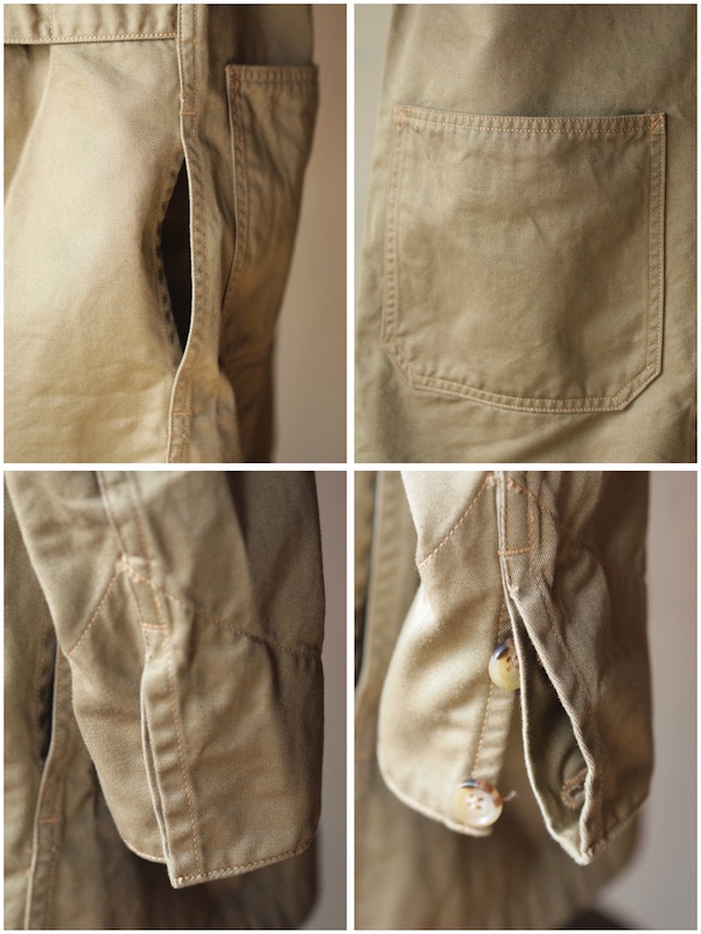 WORKERS Shop Coat 8oz Chino Beige-8