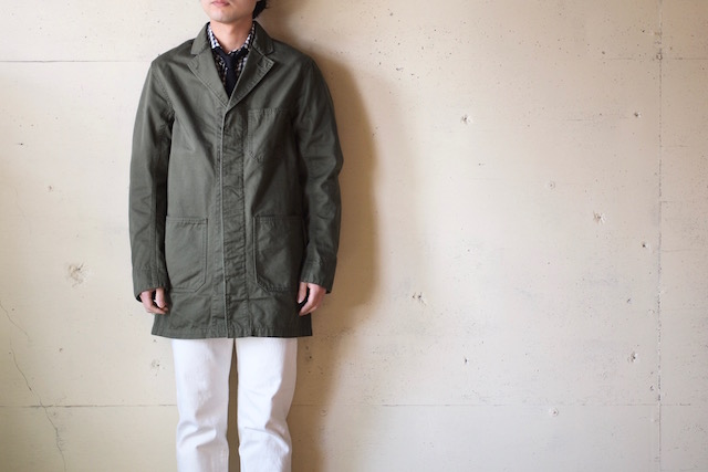WORKERS Shop Coat 8oz Chino Khaki-2