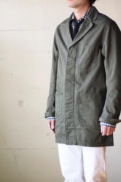 WORKERS Shop Coat 8oz Chino Khaki-3